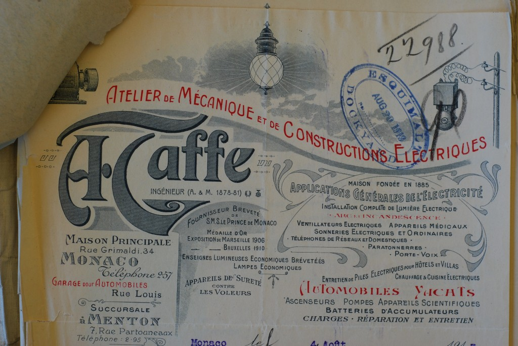A. Taffe, Monaco, manufacturers of Appareils Scientific and almost anything else!