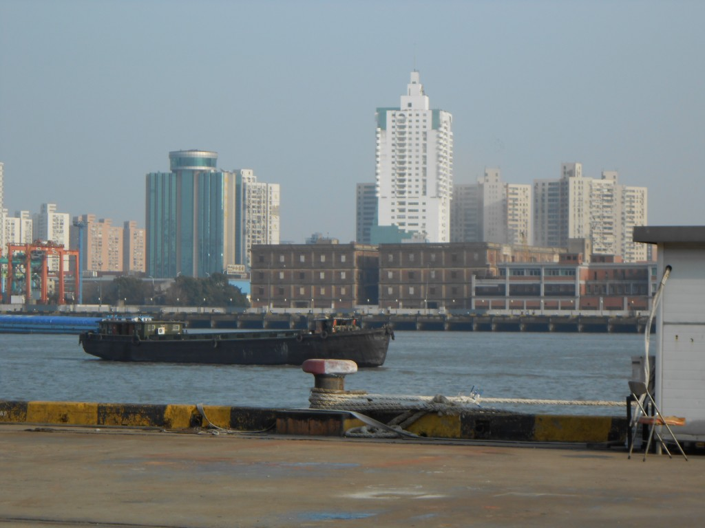 On the Huangpu River, Shanghai, where the Komagata Maru anchored in April 1914.